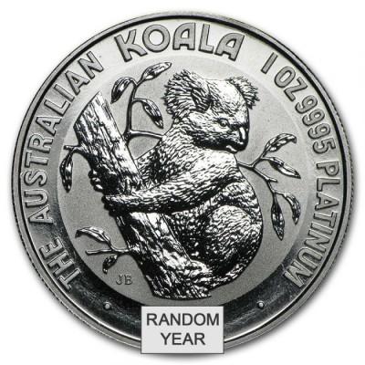 Austrálie 1 oz Platinum Koala BU (Náhodný rok)