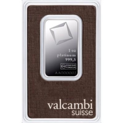 Platinový investiční slitek 1 oz VALCAMBI